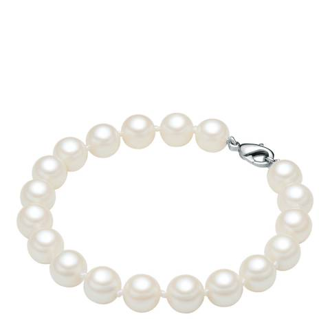 Perldesse White Pearl Bracelet 8mm (Clasp)