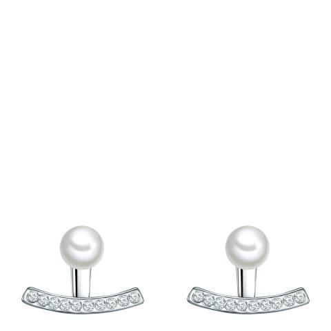 Pearls of London White Pearl Earrings 6mm