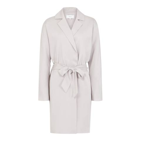 Reiss Thistle Grey Loose Fit Manhattan Trench Coat