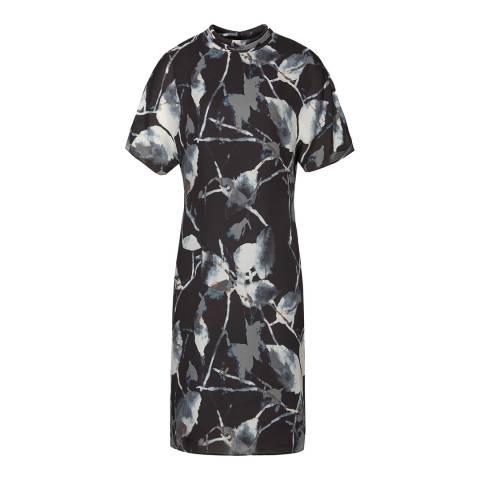 Reiss Midnight Blue Becca Short Sleeve Dress