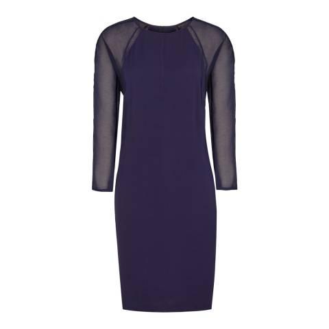 Reiss Midnight Navy Becca Laser Printed Dress