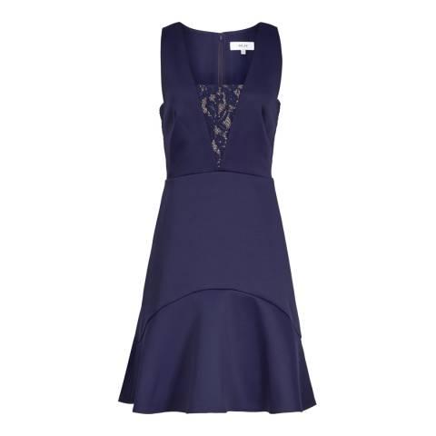 Reiss Indigo Lace Insert Hudson Dress