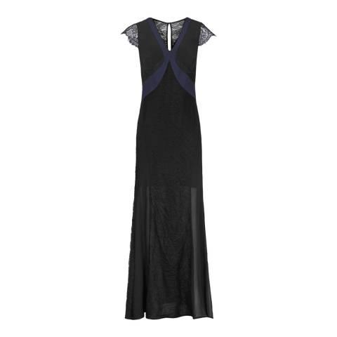 Reiss Navy Lace Julianne Long Dress