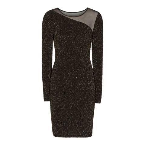 Reiss Black Metallic Verona Dress