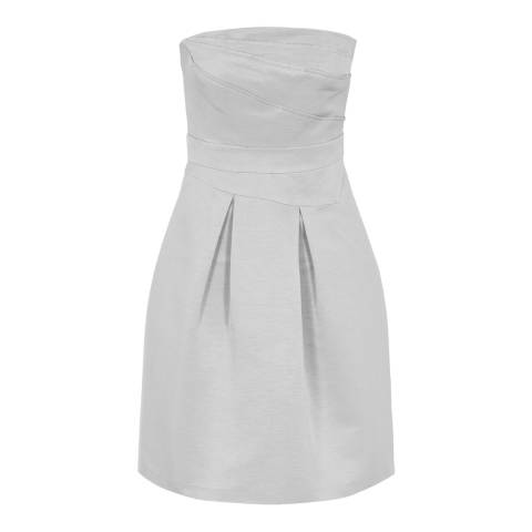 Reiss Grey Haidee Bustier Dress