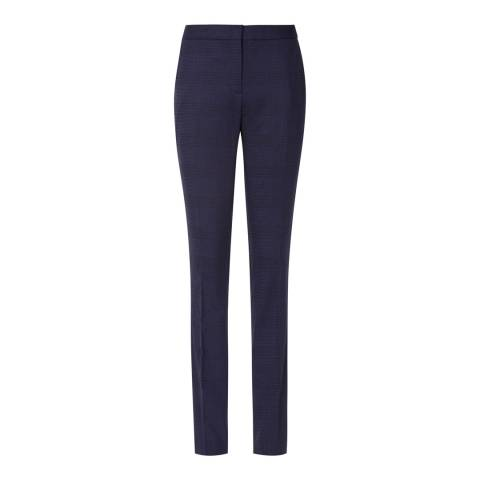 Reiss True Navy Ambra Checked Trouser