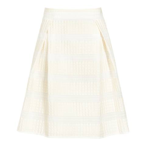 Reiss Champagne Textured Aline Geena Skirt