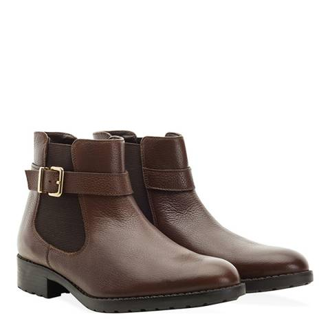 Redfoot Tan Buckle Chelsea Boot