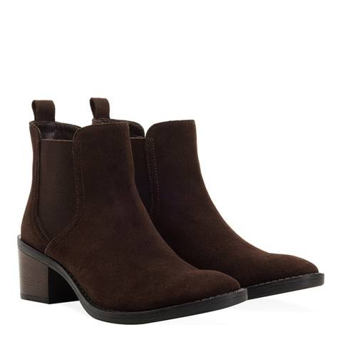 Redfoot Brown Suede Chelsea Boot