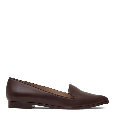 Reiss Ox Blood Volta Leather Pointed Flats