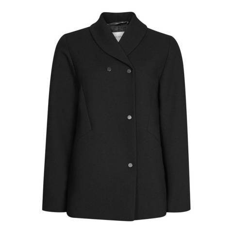 Reiss Black Ashby Draped Jacket