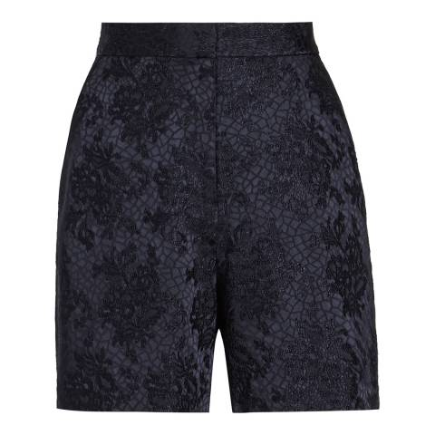 Reiss Navy Jacquard Kate Shorts