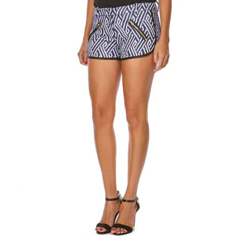 Juicy Couture Blue/White Globetrotter Tweed Shorts