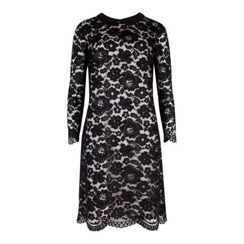 Ted Baker Black Ameera Scallop Hem Lace Dress