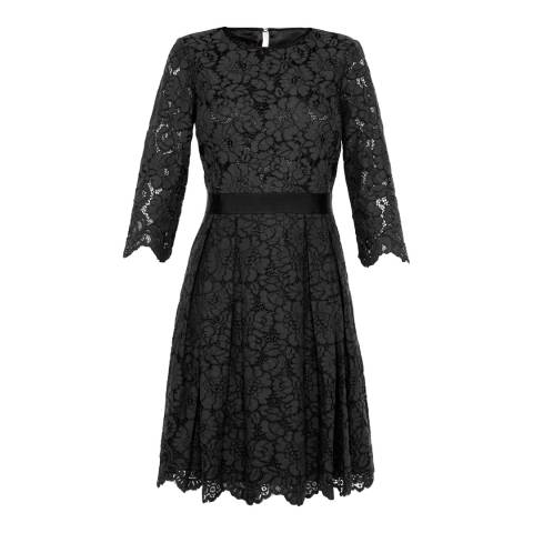 Ted Baker Black Ameeya Lace Skater Dress