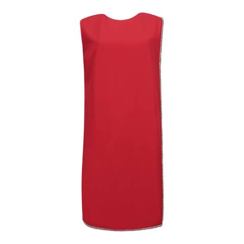 Ted Baker Red Burford Double Layer Embellished Dress
