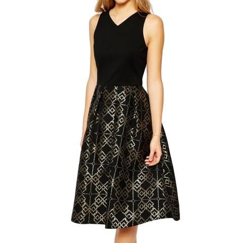 Ted Baker Black Flamie Jacquard Ballerina Dress