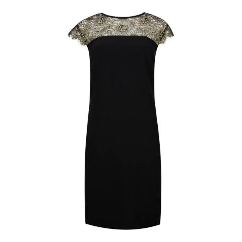 Ted Baker Black Lorenne Lace Bodice Dress