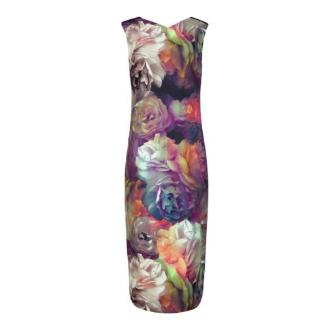 Ted Baker Black Mayzi Technicolour Floral Bloom Dress