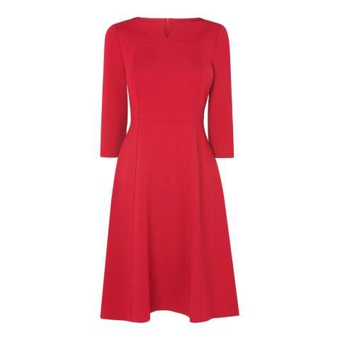 L K Bennett Red Lima Ponte Dress