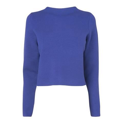 L K Bennett Blue Wool Blend Knitted Top