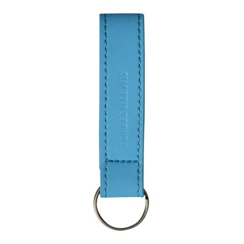 Forbes & Lewis Blue Leather Key Fob
