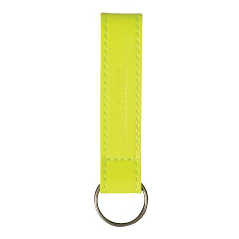 Forbes & Lewis Yellow Leather Key Fob
