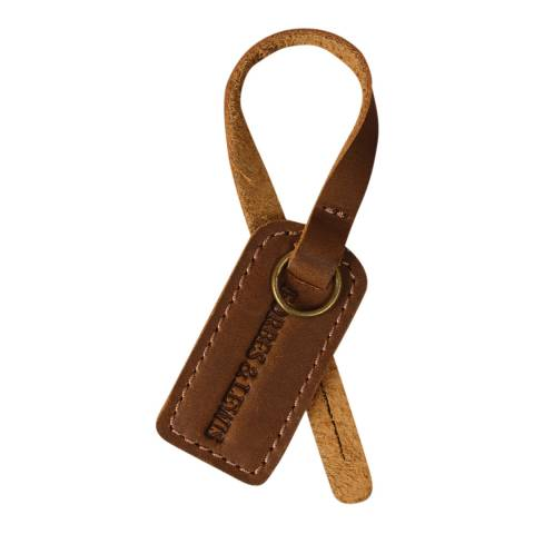Forbes & Lewis Brown Leather Luggage Tag