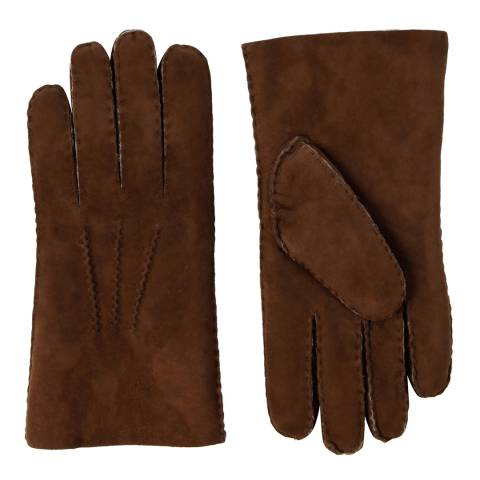 Baa Baa Men's Brown/Brown Lambskin Gloves