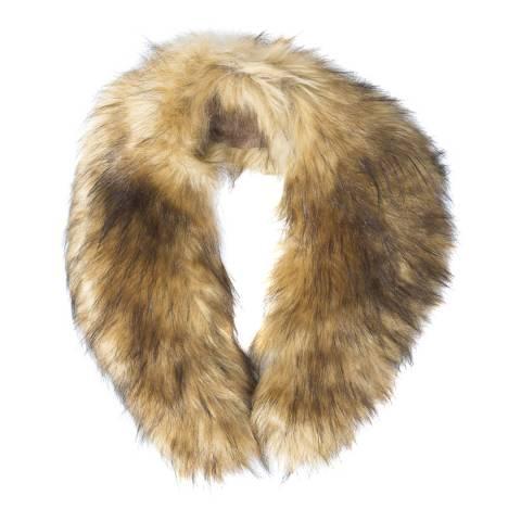 JayLey Collection Faux Fur Collar Mocha