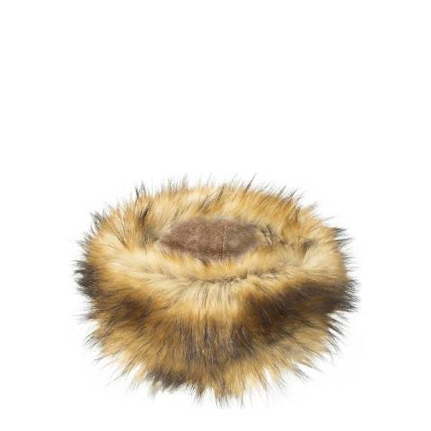 JayLey Collection Faux Fur Headband Dark Mocha / Caramel
