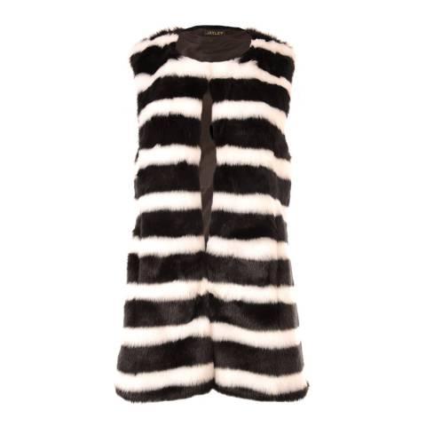 JayLey Collection Faux Fur Gilet Black