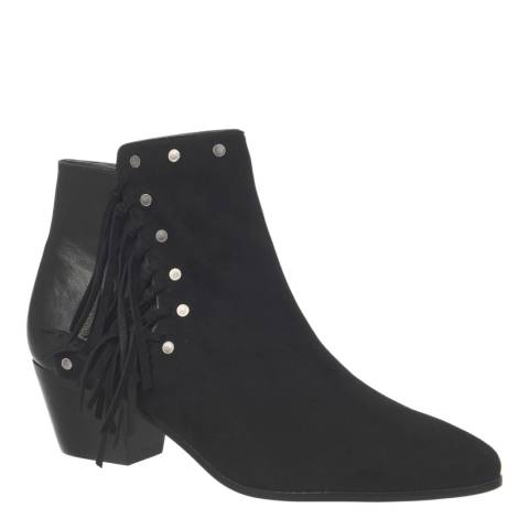 Sam Edelman Black Suede Rudie Ankle Boots