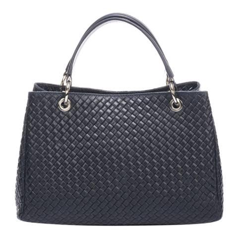 Massimo Castelli Dark Blue Leather Handbag
