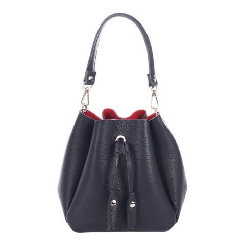 Giorgio Costa Blue Leather Bucket Bag