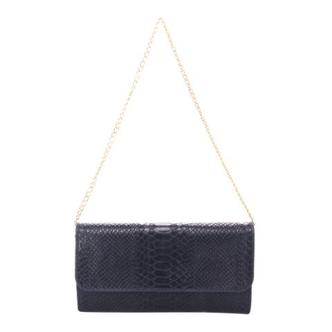 Giorgio Costa Dark Blue Leather Clutch Bag
