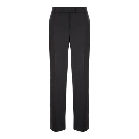 Jaeger Black Flannel Wool Blend Trousers