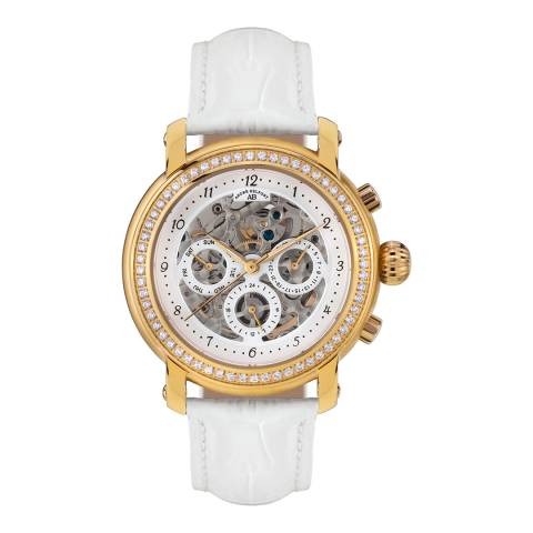 Andre Belfort Women's White/Gold Intemporelle Watch