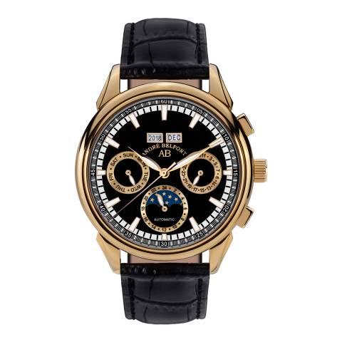 Andre Belfort Men's  Gold/Black Ambasadeur Watch