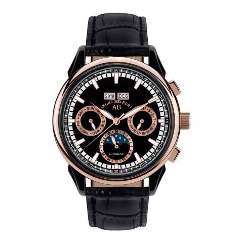 Andre Belfort Men's Rose Gold/Black Ambasadeur Watch