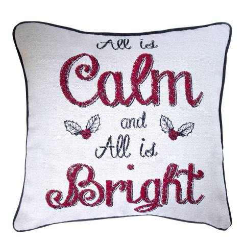 Kilburn & Scott White All is Calm All is Bright Cushion 45 x 45 cm