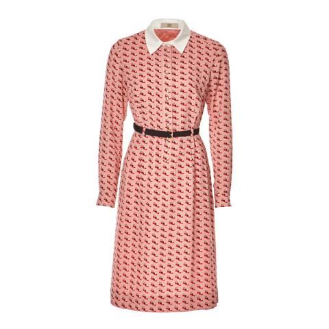 Orla Kiely Pink Ditsy Shoe Shirt Dress