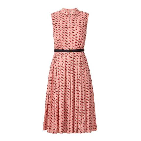 Orla Kiely Pink Ditsy Shoe Pleated Dress