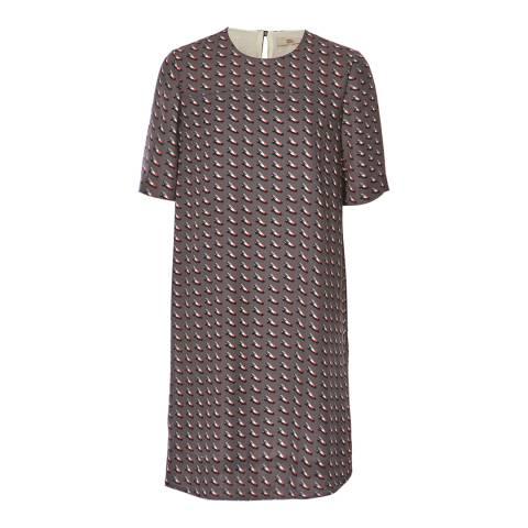 Orla Kiely Grey Ditsy Shoe Tunic Dress