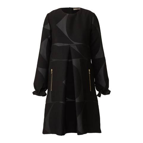 Orla Kiely Black Giant Cut Out Shift Dress
