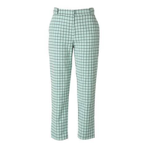 Orla Kiely Pistachio Window Pane Jacquard Trousers