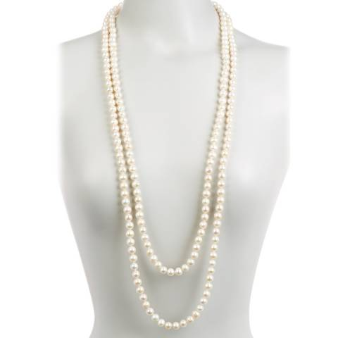 Alexa by Liv Oliver White Pearl Endless Necklace