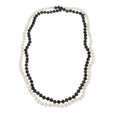 Alexa by Liv Oliver Onyx Pearl Necklace