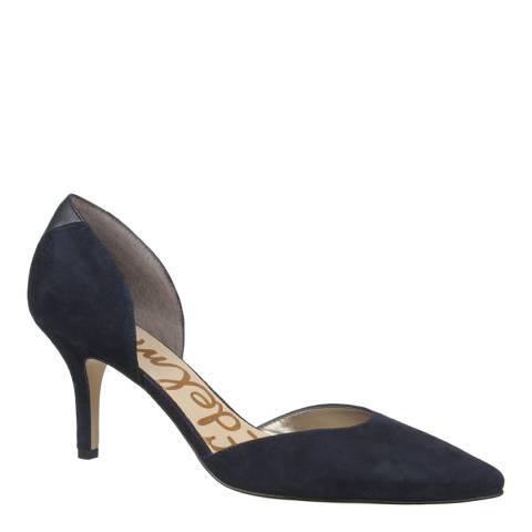 Sam Edelman Space Blue Suede Opal d'Orsay Heels
