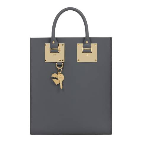 Sophie Hulme Charcoal Mini Albion Leather Tote
